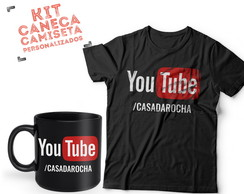KIT CANECA CAMISETA YOUTUBE