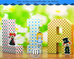 Letras 3D Alice Cute