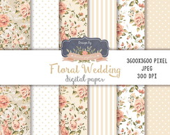 Kit Papel Digital Floral Nude