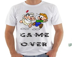 camiseta game over turma da mo