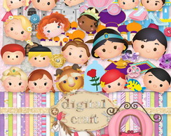 Kit Scrapbook Digital - Princesas cute