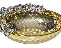 Tigela Chinelli Diamante Dourado