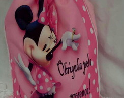 Kit com 10 sacochilas da Minnie Rosa