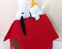 Casinha com Snoopy e Woodstock