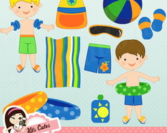 Kit Digital Praia piscina e fundo mar 59