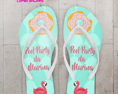 Chinelo Pool Party Infantil Piscina