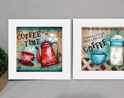 Kit 2 Quadros Decorativos Café Poster