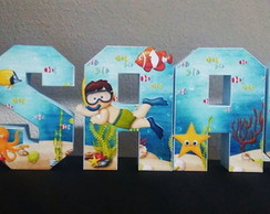 Letras 3D - Fundo do Mar