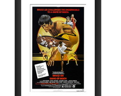 Quadro Filme Bruce Lee Kung Fu Retro Tv