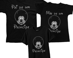 Kit 3 Camisetas Mickey Black Power