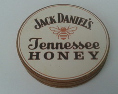 KIT COM 6 PORTA COPOS JACK DANIELS HONEY