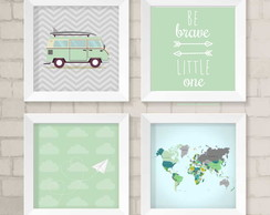 Kit de Quadros - Be Brave Little One