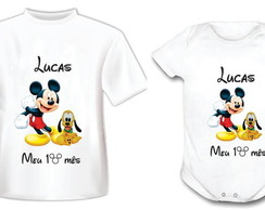 Body ou Camiseta Michey e Pluto
