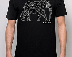 CAMISETA MASCULINA - BLACK BEAR-ELEPHANT