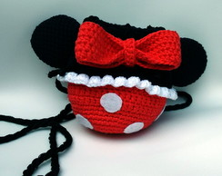 Bolsa de crochê Minnie Mouse