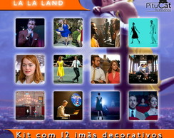 La La Land 12 imãs decorativos 5x5