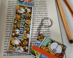 KIT Chaveiro Post It e Marcador Garfield