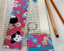 KIT Chaveiro Post It e Marcador Kokeshi