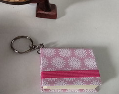 Chaveiro Mini Post It Floral