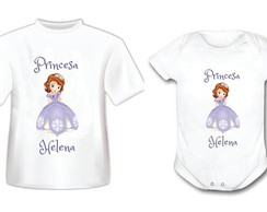 Kit Body e Camiseta Princesa Sophia