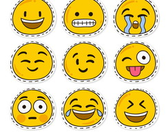 emoticons do whatsapp vetores