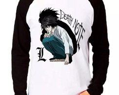 Camiseta Death Note L Anime Manga Longa
