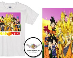 Camiseta com nome dragon ball z model 1