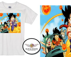 Camiseta com nome dragon ball z model 2