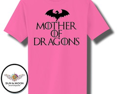 Camiseta rosa mother of dragons camisa