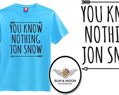 Camiseta azul you know nothing jon snow