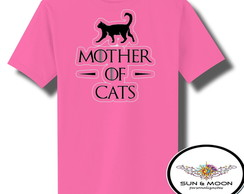 Camiseta rosa mother of cats