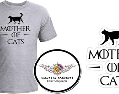 Camiseta cinza Mother Of Cats- GOT