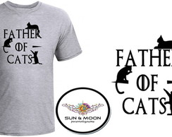 Camiseta cinza father of cats