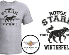 Camiseta cinza house stark GOT