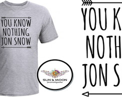 Camiseta cinza you know nothing jon snow