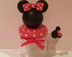 pote para doce com colher minnie biscuit