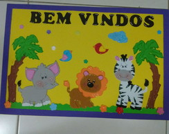 Kit decoracao sala de aula safari baby