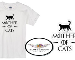 Camiseta branca mother of cats camisa
