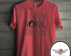 Camiseta vermelha you know nothing