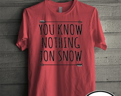Camiseta vermelha you know nothing 01