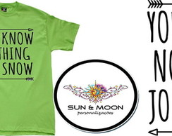 Camiseta verde you know nothing jon snow