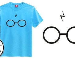 Camiseta azul harry potter model 2