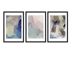 Trio de quadros Abstratos 40x60