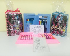 estojo de pintura monster high