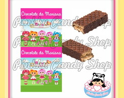 Rótulo Chocolate Wafer Duplo Lalaloopsy