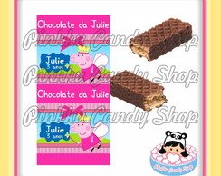 Rótulo Chocolate Wafer Duplo Peppa