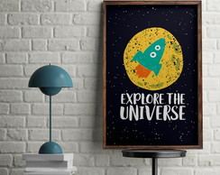 Quadro Infantil Explore the Universe