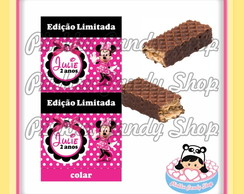 Rótulo Chocolate Wafer Duplo Minnie