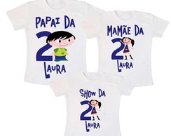 Kit 3 Camiseta Show da Laura 1 Aninho