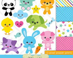Kit Digital Animais 33